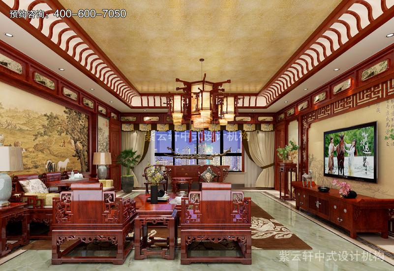 复古装修效果图提升中式居家舒适感