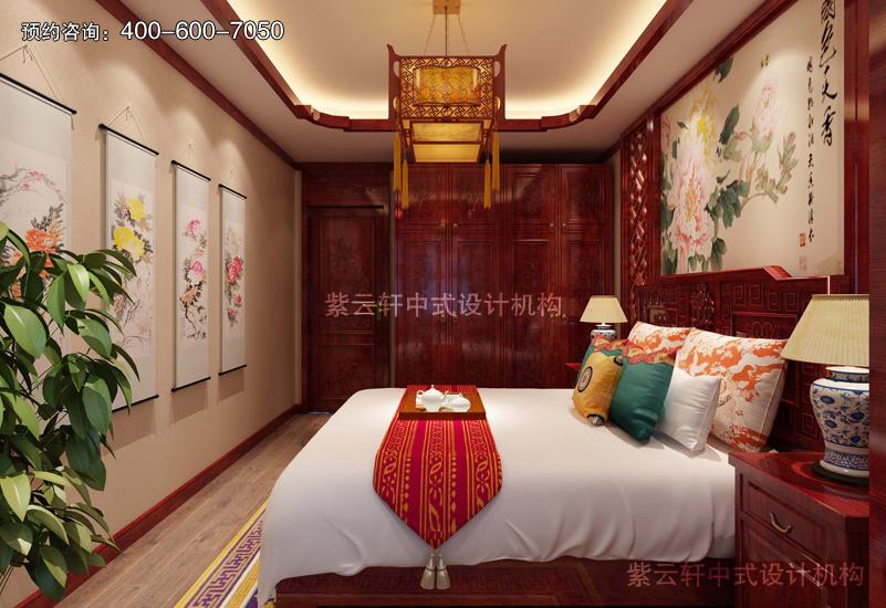 卧室仿古中式装修实景图