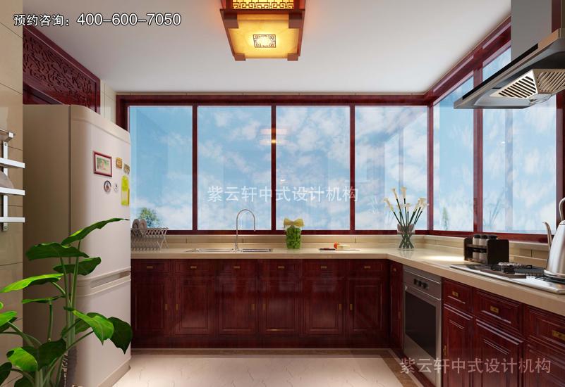 厨房仿古中式装修实景图
