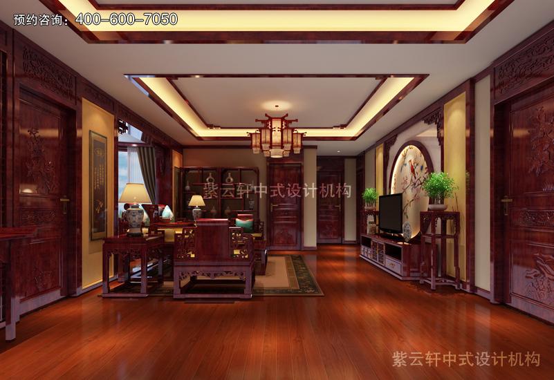 客厅仿古中式装修实景图