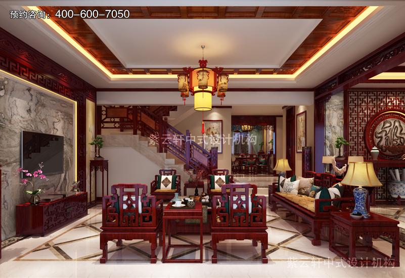 客厅复古风格中式装修效果图