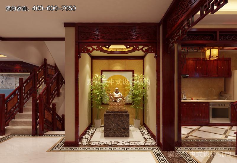 佛堂复古风格中式装修效果图