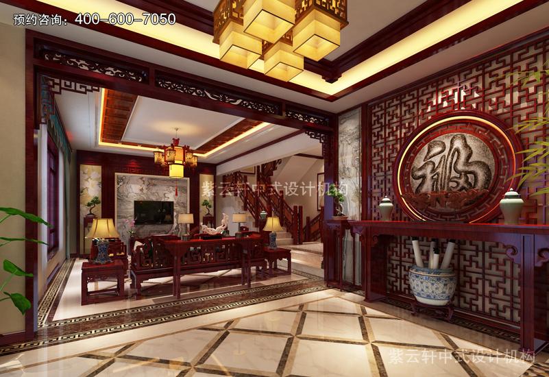 客厅复古风格装修效果图