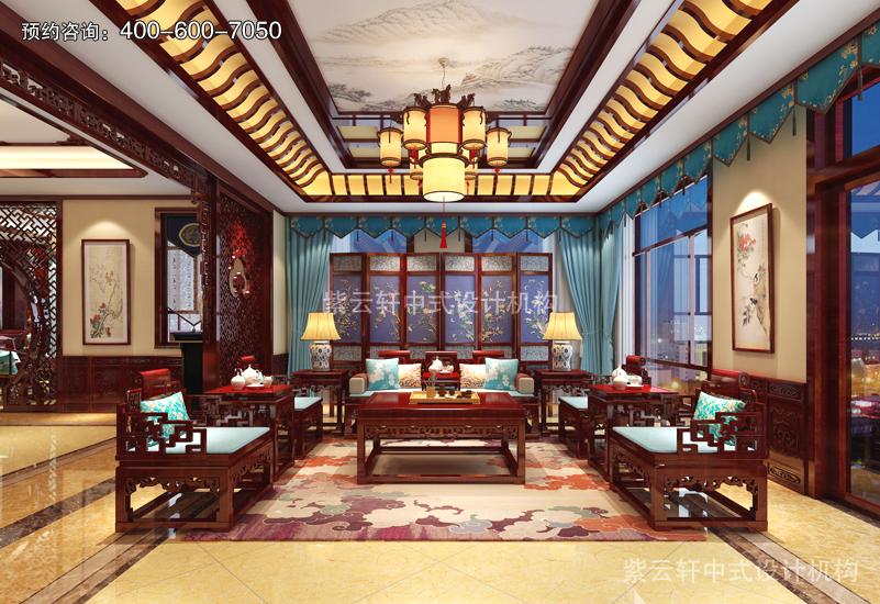 客厅复古风格装修效果图大全
