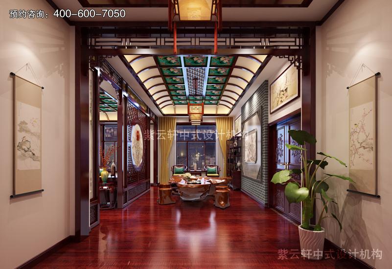 茶室-别墅复古中式装修效果图