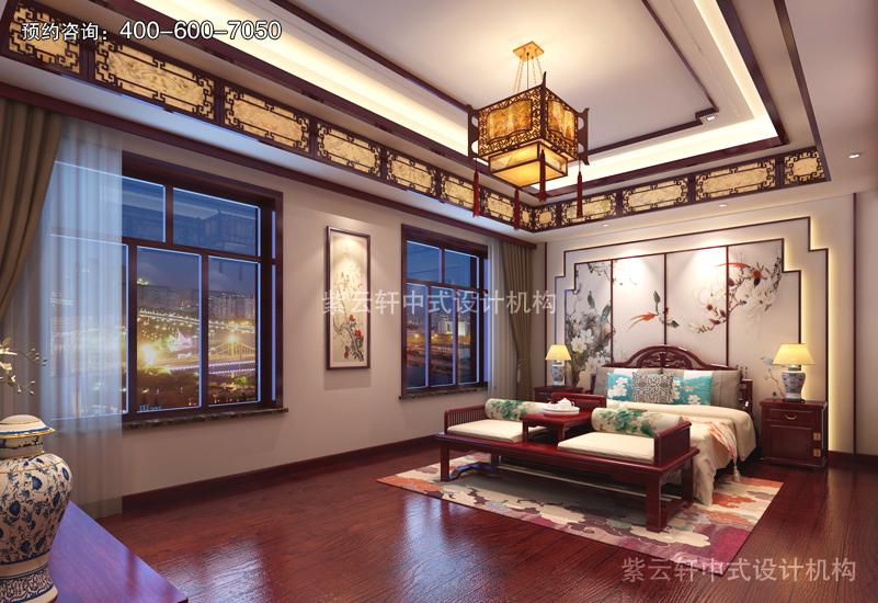 卧室-别墅复古中式装修效果图