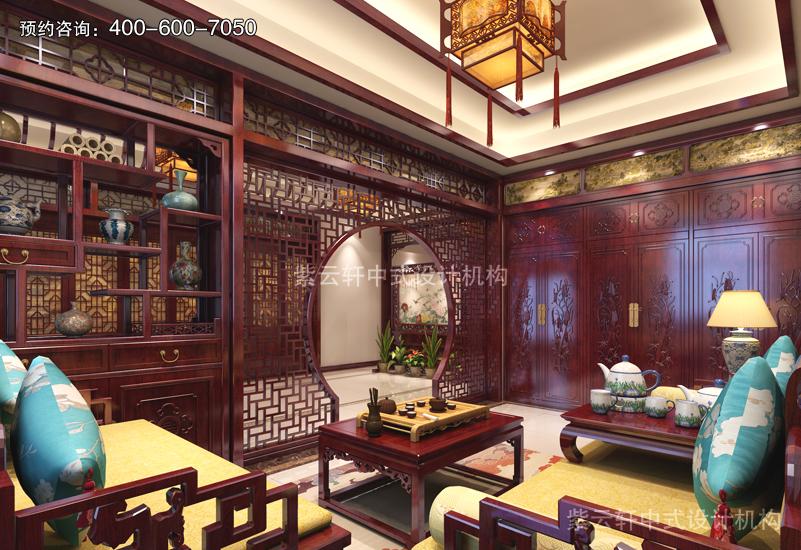 会客厅-别墅复古中式装修效果图