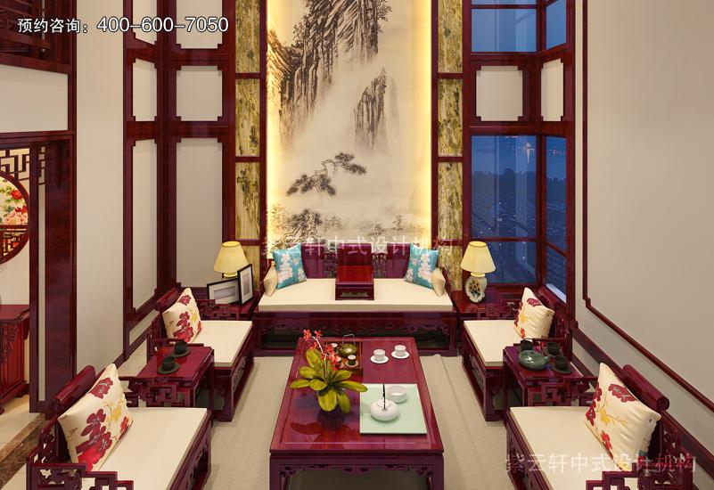 客厅复古装修效果图