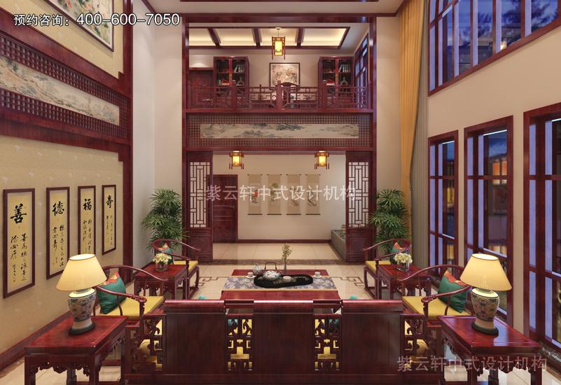 客廳復古中式風格裝修圖片