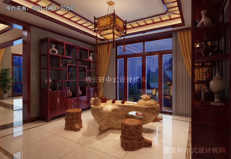 茶室复古中式风格装修图片