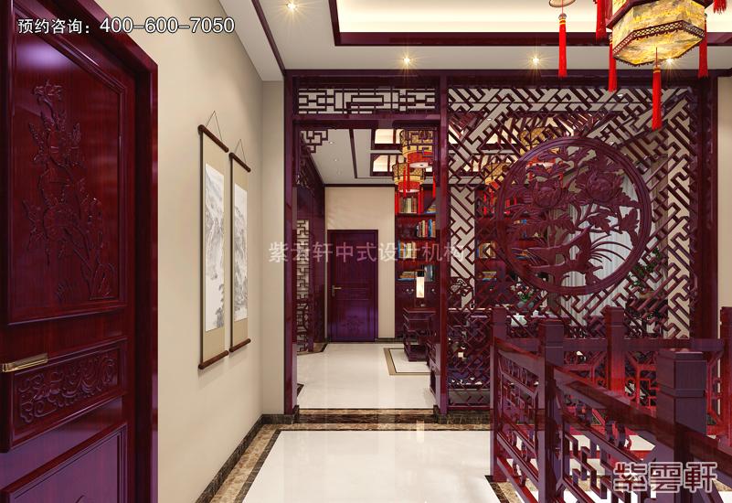 楼梯间古典中式装修效果图