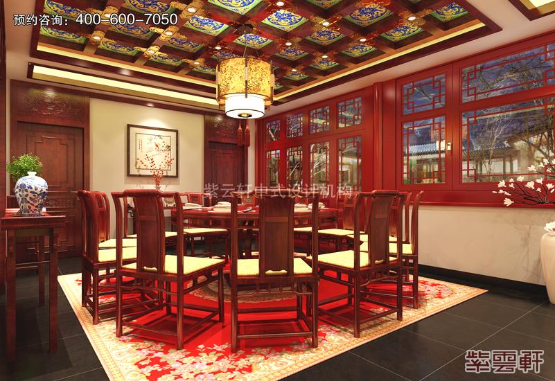 餐厅中式复古装修效果图