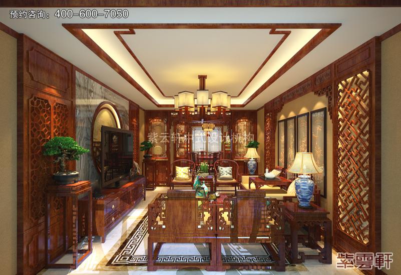 百米平层豪宅植根复古风格 装修图片美如画