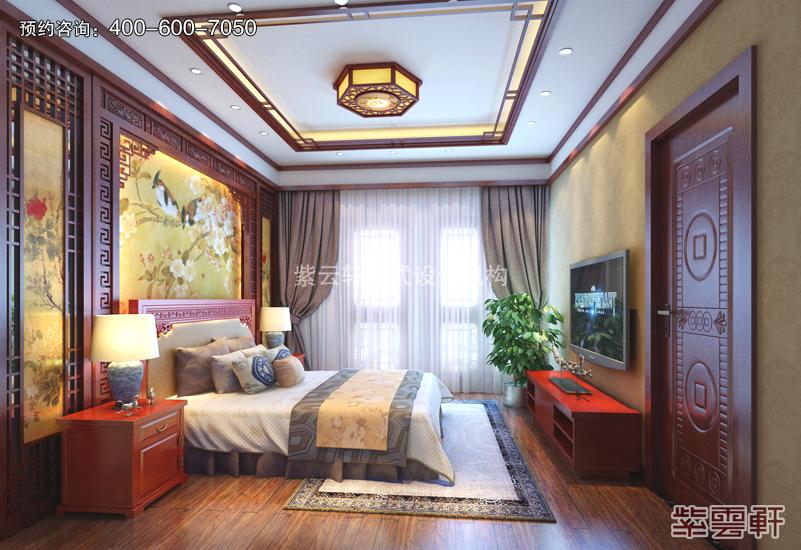 卧室中式复古装修效果图