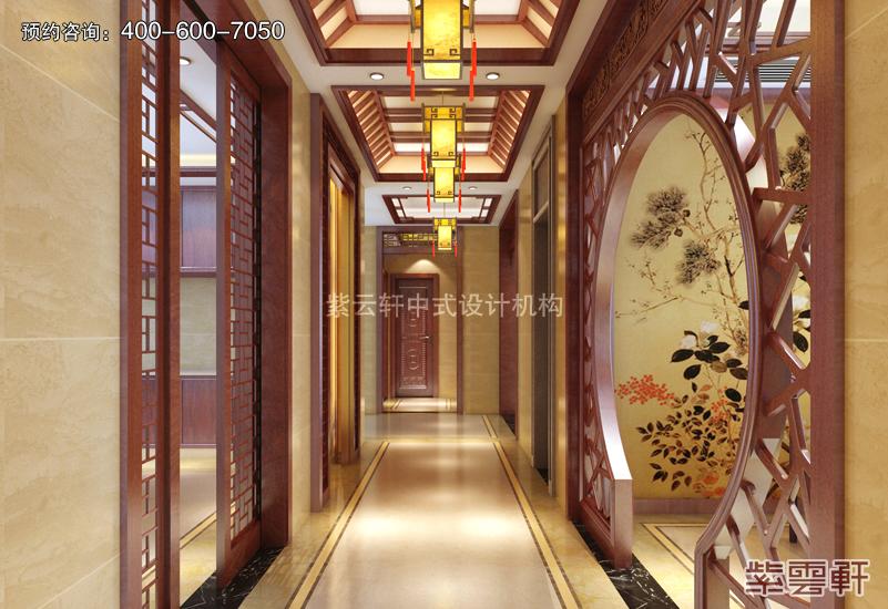 走廊中式复古装修效果图