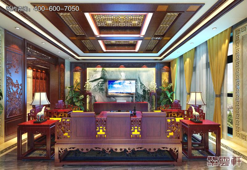客厅中式复古装修效果图