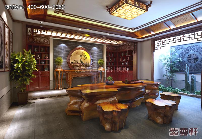 茶室中式复古装修效果图