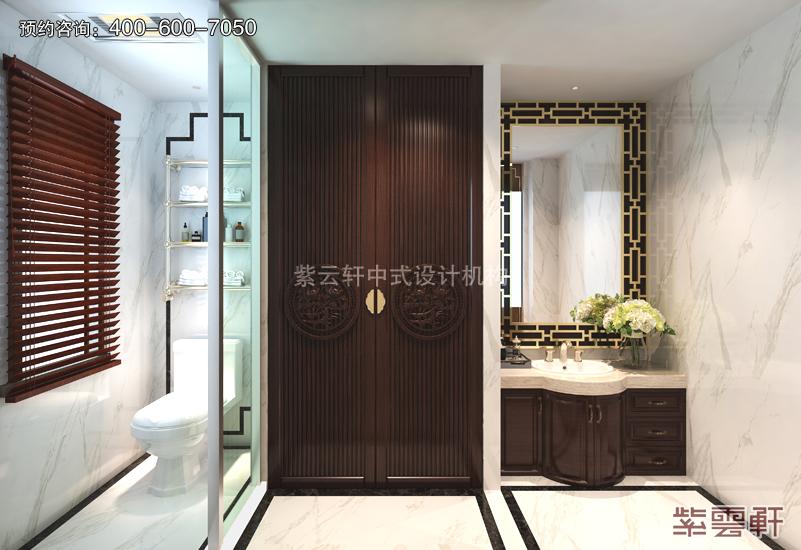 洗浴室复古中式风格效果图