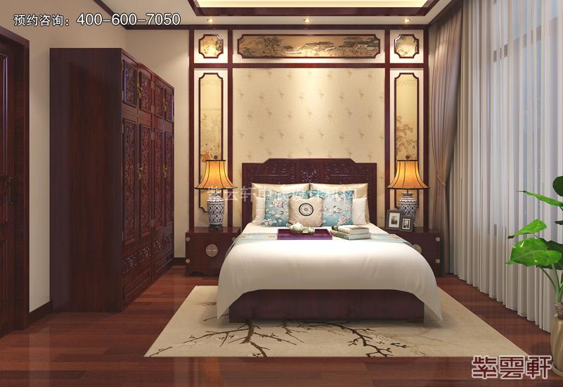 卧室复古中式风格效果图