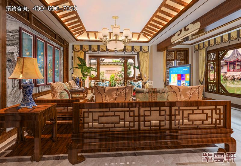 客厅复古中式风格效果图