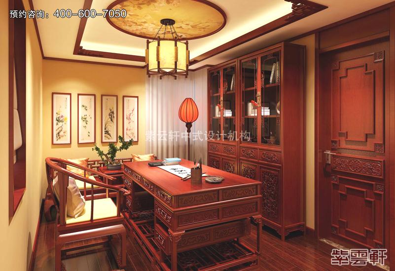 书房中式复古装修效果图