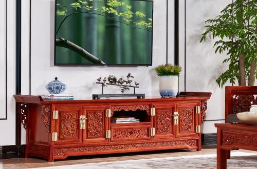 中式装修家居红木电视柜可以选择什么样式的