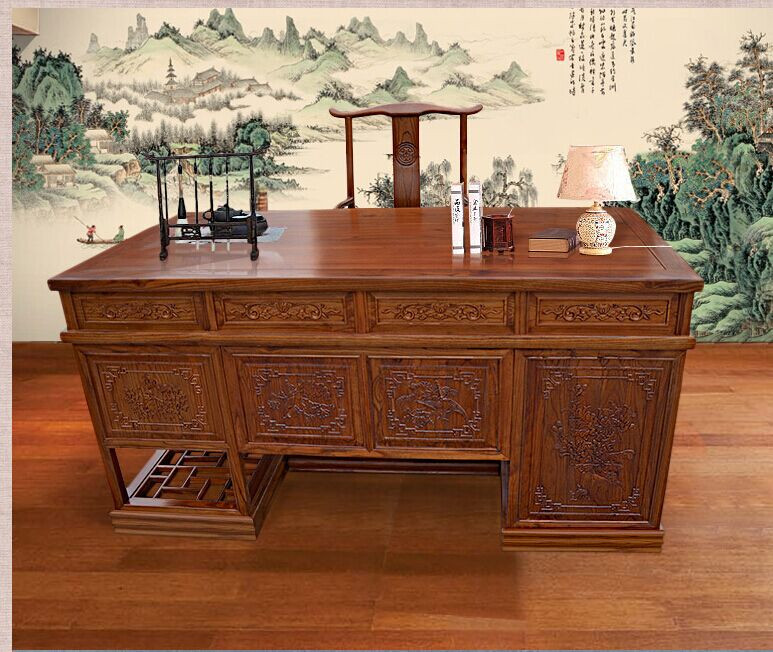 赏析六款红木书桌