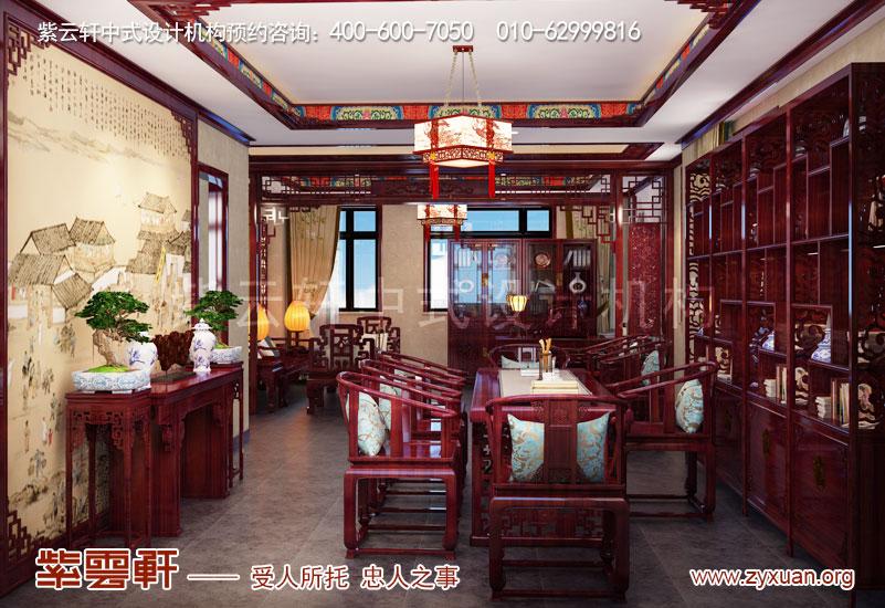 会所茶室古典风格中式装修效果图