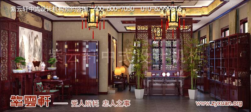 会所中堂古典风格中式装修效果图