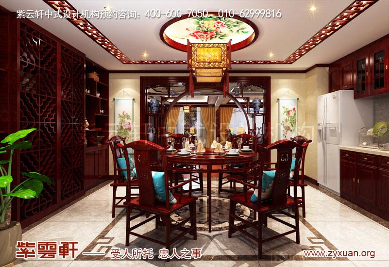 复古风格装修图片-餐厅中式装修效果图