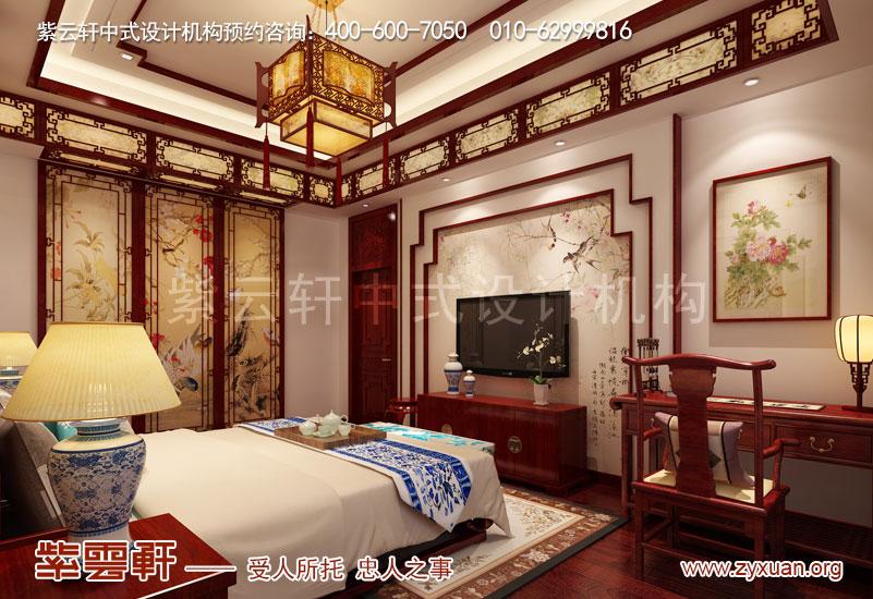 首页 别墅装修 复古别墅专题  主卧挑空设计搭配红木架子床,细节体现