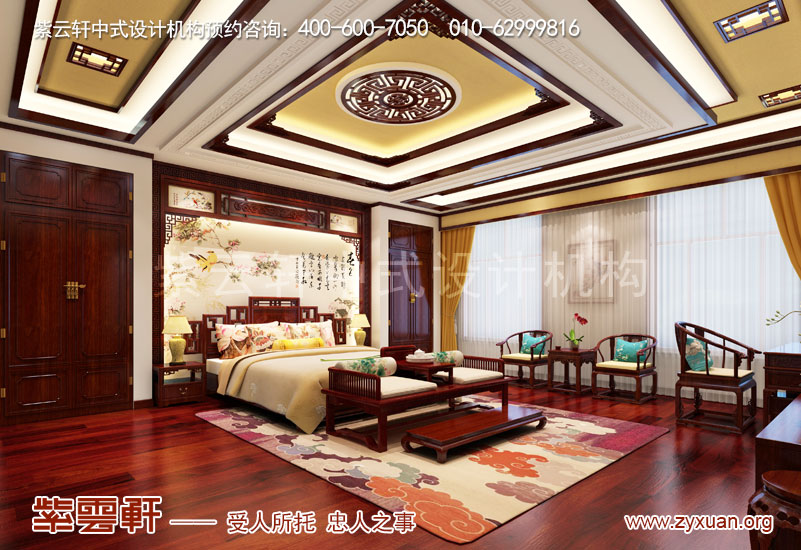 卧室复古中式装修效果图
