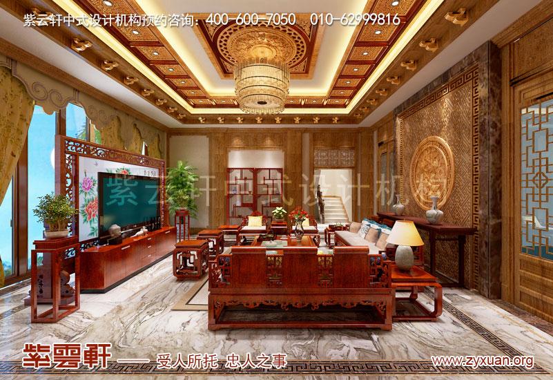 怎么让装修看起来很豪华?新中式别墅豪华装修实景图
