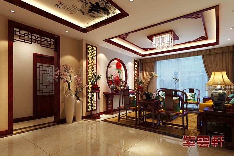 客厅豪华装修图片大全,6套中式客厅装修效果图展示