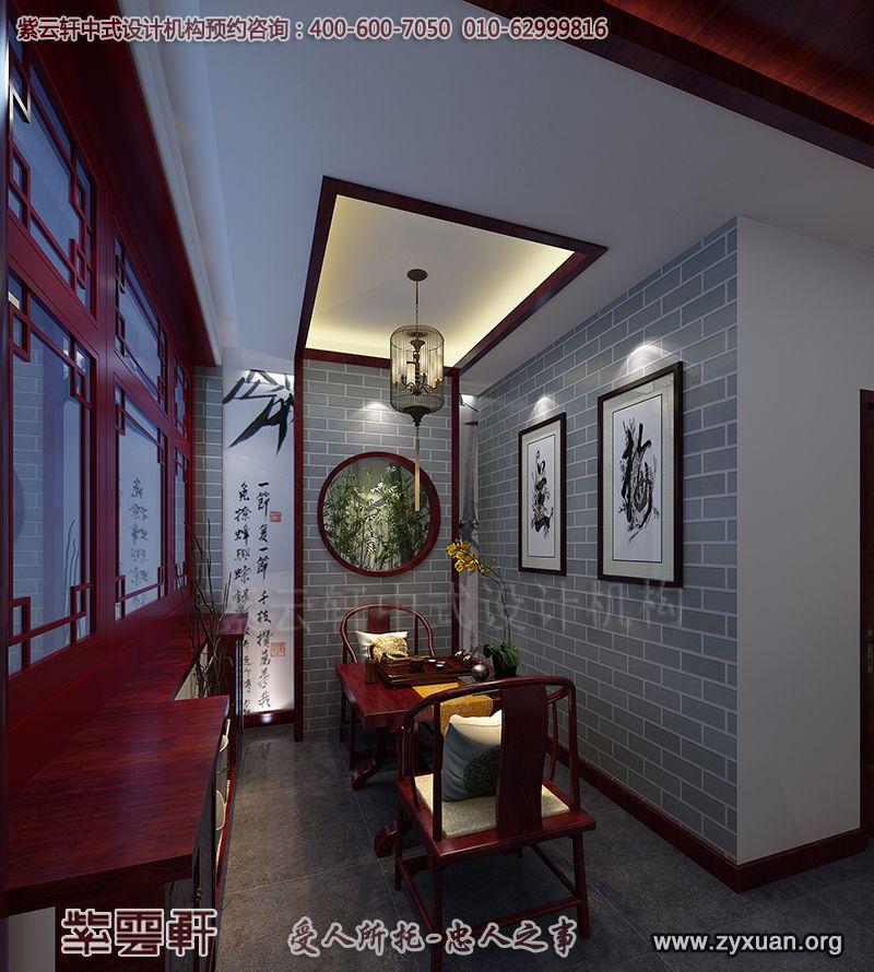 中式房屋木雕背景墙