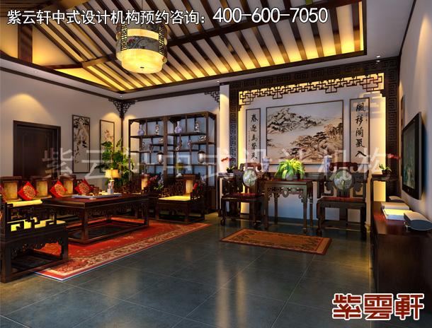 怀柔复古中式设计别墅装修效果图   品中式古典韵味