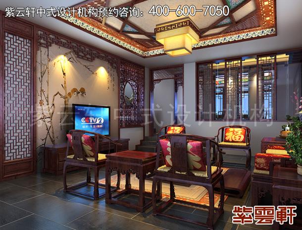 日照室内中式仿古装修效果图案例  独树一帜高贵至雅