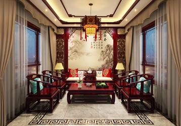 山东复古新中式大宅室内装修效果图,筑就一方华美舒适空间