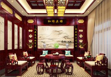 2017紫云轩最新案例赏析,邢台复古新中式风格别墅装修效果图