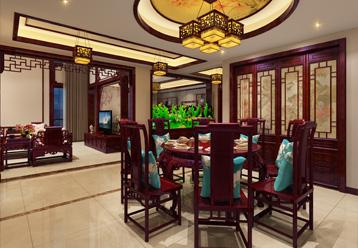 西安白桦林间独栋别墅现代中式装修效果图,端庄丰华的东方精神世界