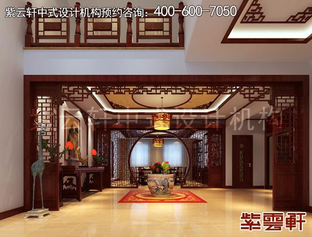 石家庄复式楼仿古新中式风格装修效果图 清雅含蓄续古韵