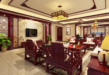 西安现代中式风格别墅装修效果图,造就高雅温馨的完美居室