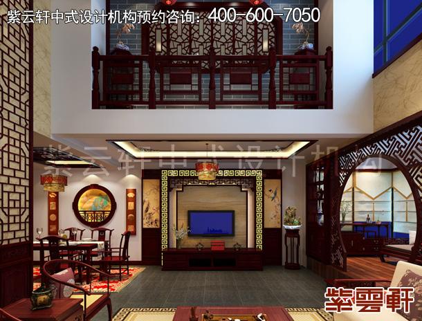 山东威海复式楼中式设计案例  古朴凝香盈满情怀
