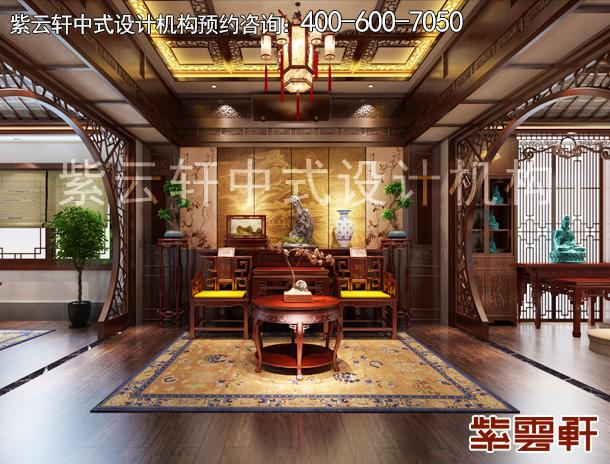 上海高档别墅简约古典中式装修案例,暖阁四季馨香