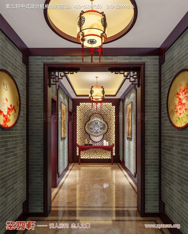 别墅门厅现代中式效果图