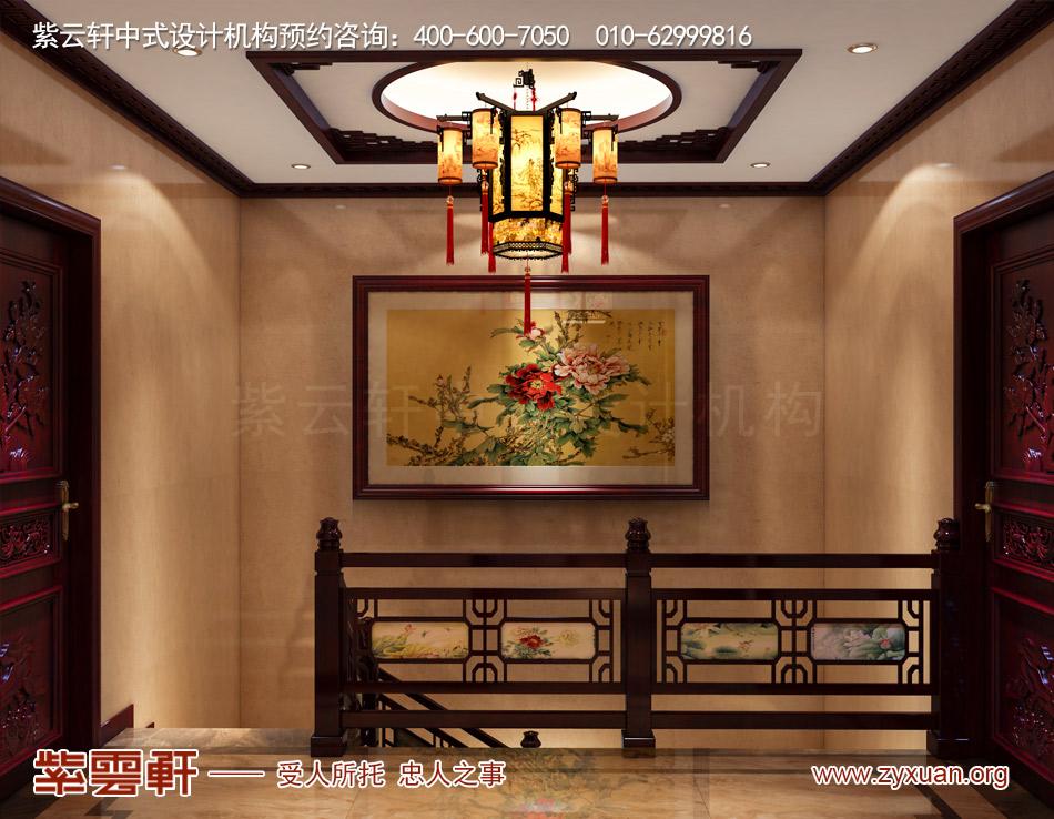楼梯间现代中式效果图