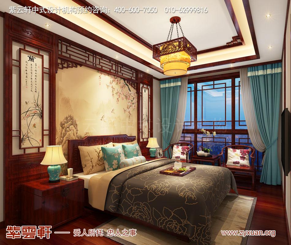 老人房现代中式风格效果图