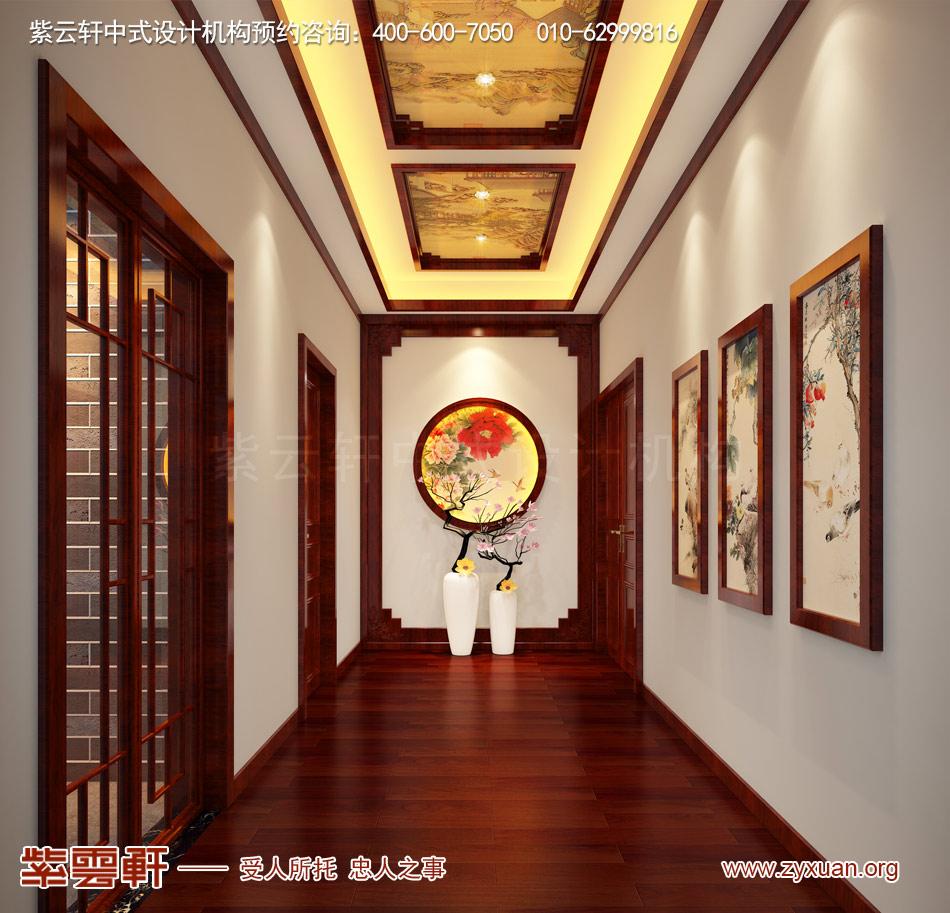 走廊现代中式风格效果图