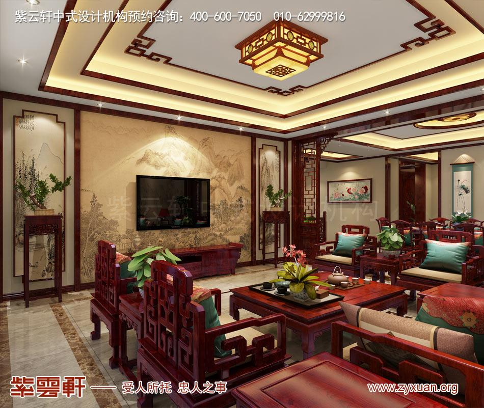 济南别墅现代中式风格效果图,现代中式设计的典范之作
