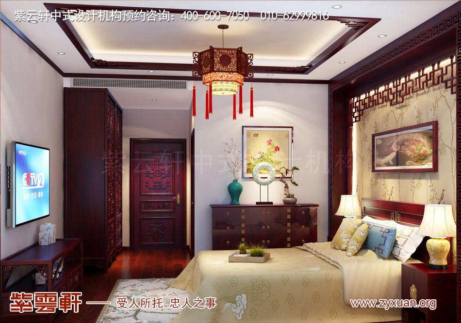 客卧现代中式风格效果图